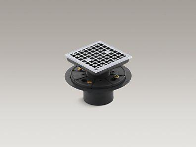 KOHLER | K 9136 CP | Square Design Tile In Shower Drain For Master Shower |  Chatham | Pinterest | Shower Drain, Master Shower And Bath