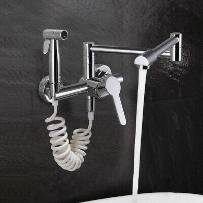 Advertisement Modern Pot Filler Wall Mount Faucet Kitchen Mixer Tap Swing Arm With Sprayer Usa In 2020 Modern Pot Fillers Wall Mount Faucet Pot Filler Faucet