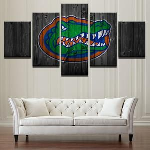 Florida Gators College Football 5 Panel Wall Art On Canvas Print Cheap Canvas Prints Wall Paintings Pi Canvas Wall Decor Customized Canvas Art Panel Wall Art