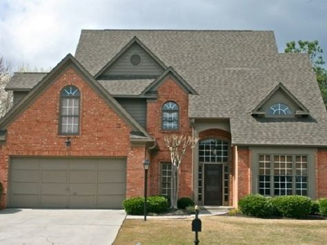 red brick homes on pinterest | home ideas / Exterior color coordinating with red brick