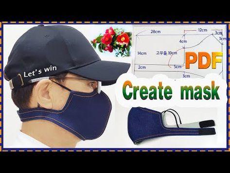 마스크 만들기 Create Mask Pdf Youtube Artesanías De Costura Piezas De Máquina De Coser Patrones De Costura Pdf