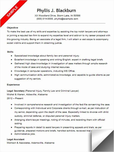 25 Sample Resume Legal Administrative Assistant In 2020 Good