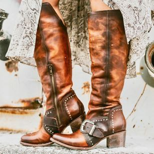 Vintage boots, Boots, Leather boots women
