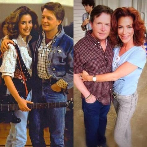 Marty McFly and his girlfriend Jennifer from the original Back to the Future movie then and now. - Real Funny has the best funny pictures and videos in the Universe!