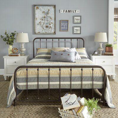 Laurel Foundry Modern Farmhouse Gerald Platform Bed Bed Upholstered Platform Bed Metal Platform Bed