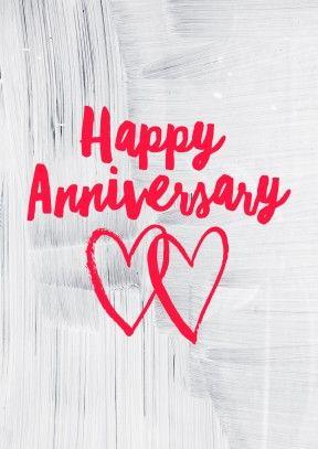 Happy Anniversary Brushy Hearts Anniversary Card By1002 Happy Anniversary Anniversary Cards Cards