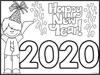 Freebie Happy New Year Coloring Sheet New Year Coloring Pages