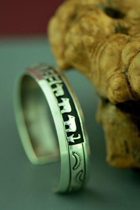 Navajo Sterling Silver Story Bracelet By Rosita Singer