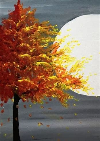 Image Result For Easy Fall Watercolor Paintings For Beginners Fall Tree Painting Fall Canvas Painting Abstract Art Painting