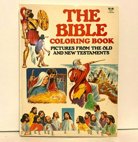 The Bible Coloring Book Old and New Testaments 1985