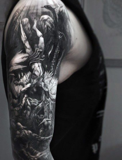 Top 51 Gothic Tattoo Ideas 2020 Inspiration Guide Gothic Tattoo Tattoos For Guys Tattoo Designs