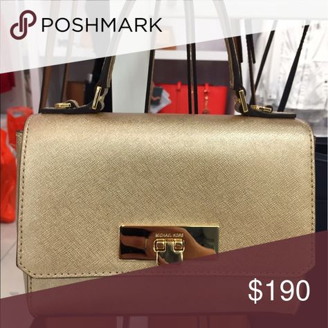 b244fd870332 Michael kors Callie crossbody •size XS •gold leather •Brand new •Authentic  •available in taupe