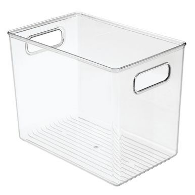 Mdesign Kitchen Pantry Food Storage Organization Bin Box Plastic Clear 10 X 6 5 X 8 Pack Of 4 Organizing Bins Food Storage Organization Storage Bin