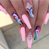 THE RIGHT NAILS MAKE GIRLS MORE FASHIONABLE - Page 61 of 77 #coffinnailmarble #coralcoffinnail #pastelcoffinnail #skinnycoffinnail