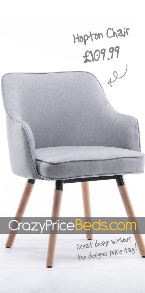 Remarkable Hopton Grey Fabric Upholstered Occasional Bedroom Accent Inzonedesignstudio Interior Chair Design Inzonedesignstudiocom