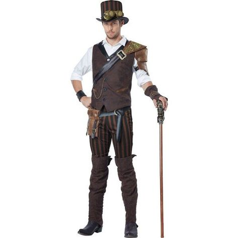 Check out Steampunk Adventurer Costume Mens Costume - Mens Costumes for 2018 | Wholesale Halloween Costumes from Wholesale Halloween Costumes