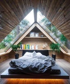 9 Attentive Cool Tricks: Natural Home Decor Boho Chic natural home decor modern fireplaces.Simple Natural Home Decor Texture all natural home decor spaces.Natural Home Decor Living Room. A Frame Cabin, A Frame House, Bed Frame, Rustic Master Bedroom Design, Bedroom Rustic, Wood Bedroom, Cabin Plans With Loft, Natural Home Decor, Tiny House Design