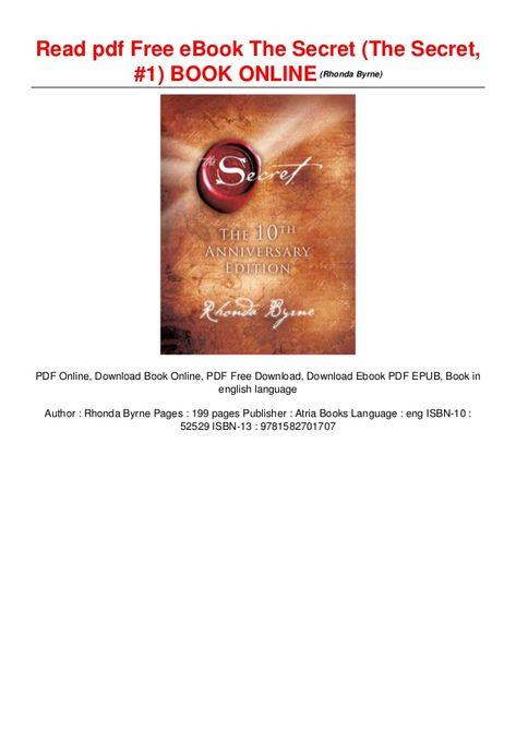 the secret 10th anniversary pdf free download