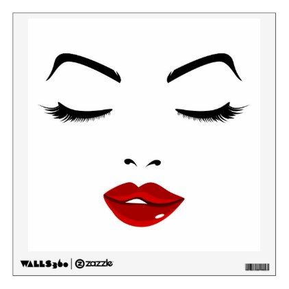 Elegant Face Wall Decal Zazzle Com Lips Painting Makeup