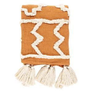 Acequia Throw Blanket Boho Throw Blanket Burnt Orange Throw Blanket Orange Blanket