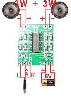 Pam8403 6w Stereo Amplifier Tutorial Electronics Mini Projects Diy Amplifier Power Amplifiers