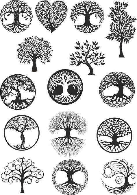 Vector Ornament Decorative Celtic Tree Of Life Vector Tree