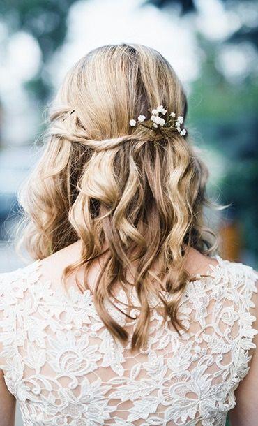 Haarschmuck Braut Offene Haare Frisur Hochzeit Frisuren Hochzeitsfrisuren