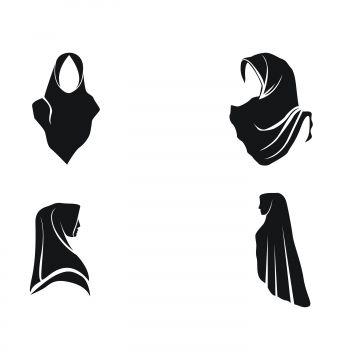 Stock Vector Hijab Logo Vector Png And Vector Hijab Logo Vector Logo Vector Art