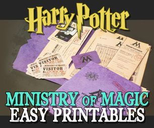 Ministry Of Magic Documents And Folder Harry Potter Classes Harry Potter Decor Harry Potter Birthday