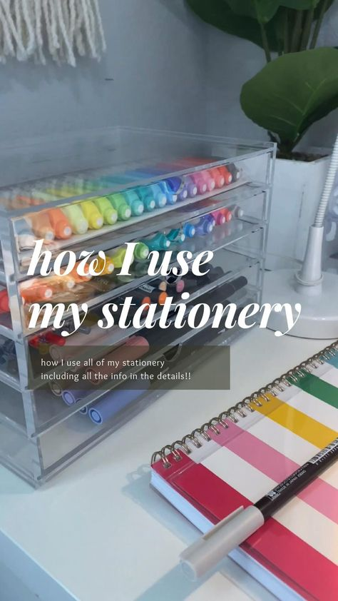 How I Use All Of My Stationery!!