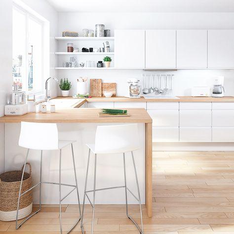 10 Idees Pour Une Cuisine Blanche Cuisine Loft Meuble Cuisine Et Cuisine But