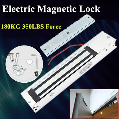 Electric Magnetic Lock 180kg 350lbs For Door Entry Access Security System 12v In 2020 Entry Doors Magnetic Lock Magnetic Door Lock