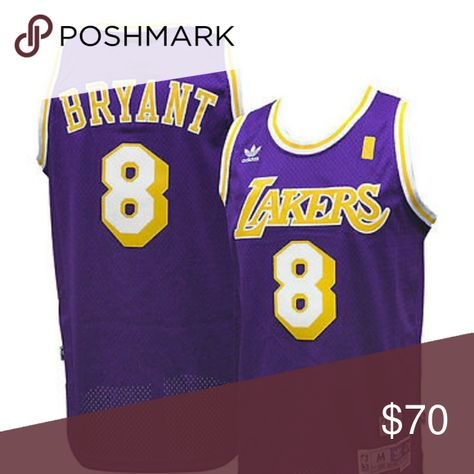 11a5325c9 Kobe Bryant L.A. Lakers  8 Throwback Jersey  Officially Licensed  Authentic   NBA Adidas Swingman Jersey  Hardwood Classics  Hall of Famer  Black Mamba  ...