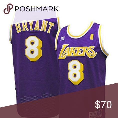 02b42ed971b Kobe Bryant L.A. Lakers  8 Throwback Jersey  Officially Licensed  Authentic   NBA Adidas Swingman Jersey  Hardwood Classics  Hall of Famer  Black Mamba  ...