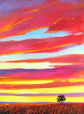 Prairie Sunset - giclee by ©Patty Baker (via ArtistRising)