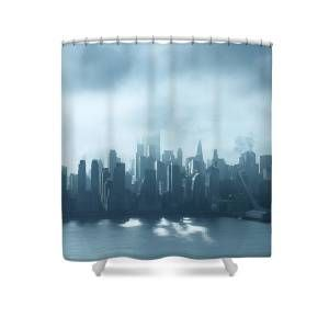 Floating City Shower Curtain For Sale By Zina Zinchik Floating City Curtains For Sale Floating