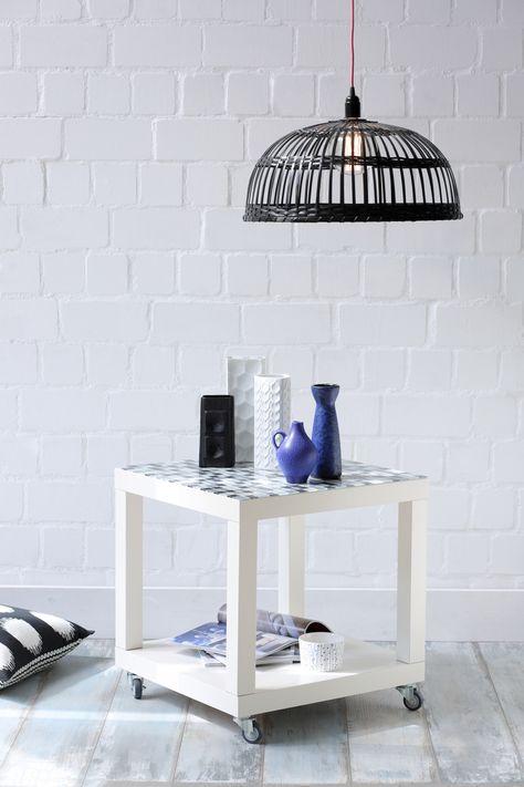 Beistelltisch Ikea Lack Mit Rollen Und Mosaikfliesen Ikea Ikeahack Beistelltisch Fliesentisch Fliesen Tische Beistelltisch Ikea