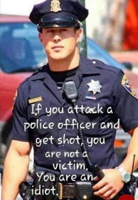 Police Support Men In Blue