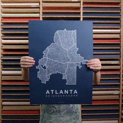 Screen-printed City Map