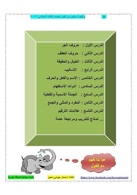 بوكلت اساليب للصف الثالث الابتدائي من اعداد الاستاذ بيومي سمير Learn Arabic Language Arabic Kids Learning Arabic