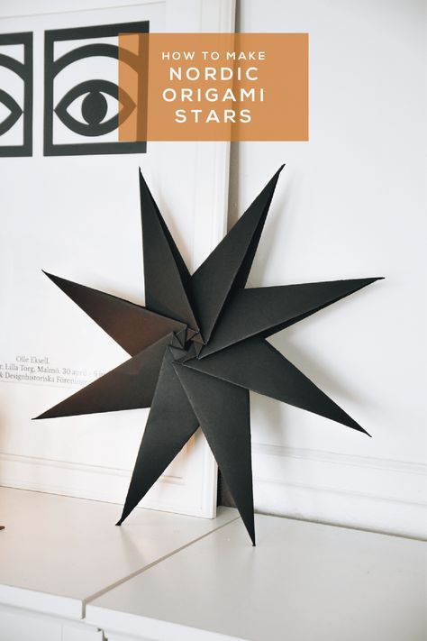 How to Make a Nordic Origami Star Watch this quick origami star video tutorial and bring a bit of Nordic flair to your Holiday decor this year. Only one material needed: Paper! The post How to Make a Nordic Origami Star appeared first on Paper Diy. Origami Simple, Easy Origami For Kids, Useful Origami, Easy Oragami, How To Do Origami, Handmade Christmas Decorations, Star Decorations, Christmas Crafts, Craft Kids