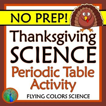No Prep Use The Periodic Table As A Decoder For Thanksgiving Words Use Element Atomic Numbers Thanksgiving Words Science Worksheets Thanksgiving Worksheets