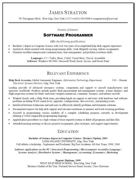 Cobol Programmer Resume Extraordinary Model Resume Template Sample Template Example Of