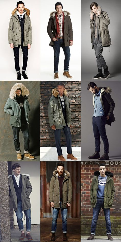Men's Winter Fashion: A Versatile Classic of The Parka Jacket: The Classic Olive Drab Modern Outfit Inspiration