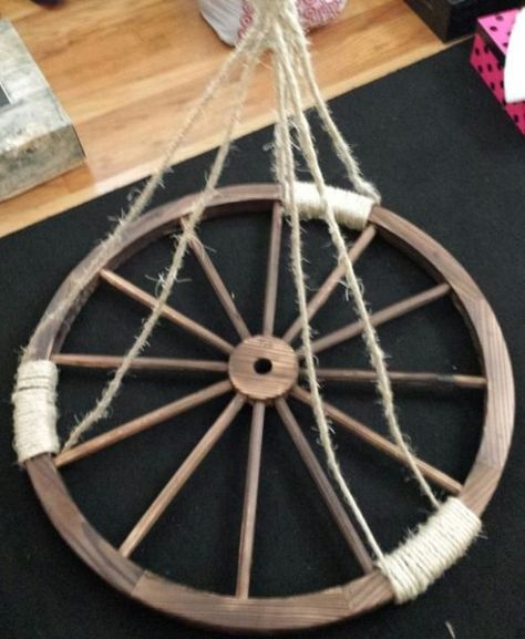 Make your own wagon wheel chandelier