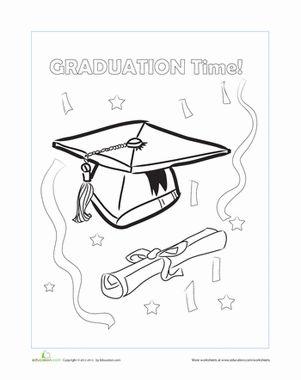 Graduation Cap Worksheet Education Com Graduation Cap Coloring Worksheets For Kindergarten Coloring Pages