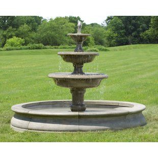 Outdoor Fountains You Ll Love Wayfair With Images Fountains Outdoor Large Outdoor Fountains Outdoor Fountain