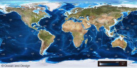 Ocean Depth Map Ocean Depth - Ocean maps with depths
