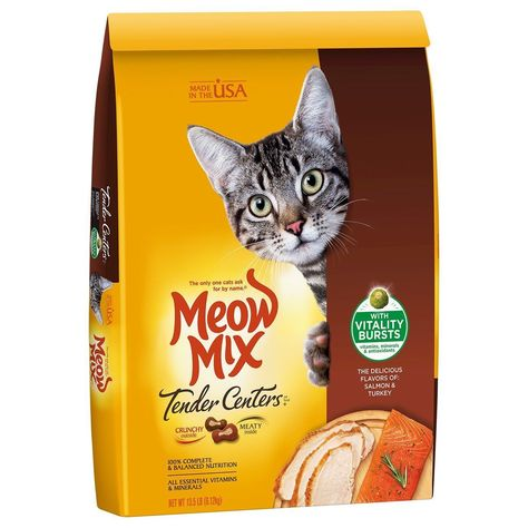Cat Salmon Turkey Flavors Mix Dry Food Vitamins Minerals Adult Pet Kittens Eat Ebay Dry Cat Food Cat Food Chicken Flavors