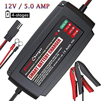 Amazon Com Bmk 12v 5a Smart Battery Charger Portable Battery Maintainer With Detachable Alli Automatic Battery Charger Battery Charger 12v Car Battery Charger